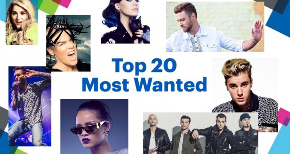 Listen to the Top 20 Most Wanted - Sundays at Noon