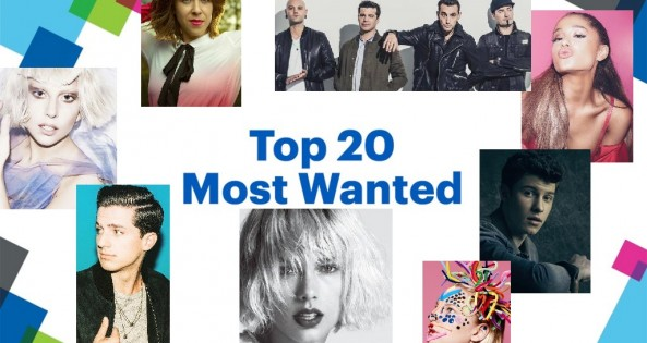 Listen to the Top 20 Most Wanted - Sunday at Noon!