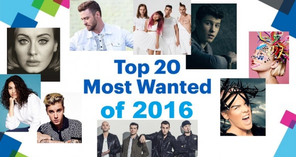 Top 20 Most Wanted - 2016 - Year End